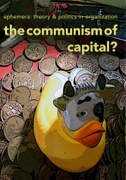 Cover with image of masked rubber duck floating on coins.