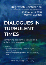 Degrowth Conference, Malmö